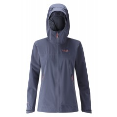 Rab Ladies Kinetic Waterproof Soft Shell Jacket Steel