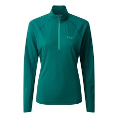 Rab Ladies Pulse Long Sleeve Zip Top Atlantis