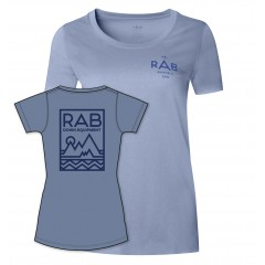 Rab Ladies Stance Geo Short Sleeve Tee Thistle