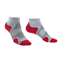 Bridgedale Ladies Trail Sport Lightweight Ankle Sock Grey/Raspberry