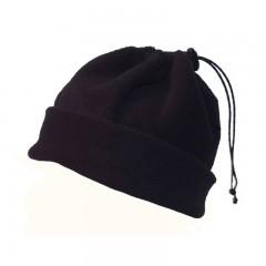 Fleece 3 in 1 Neckwarmer, Hat & Face Covering Black