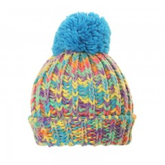 Girls Chunky Knit Bobble Hat